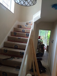 Staircase before photo